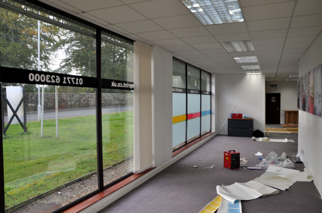 A view of the PomPrint premises before the company moved in on 22nd October 2012.